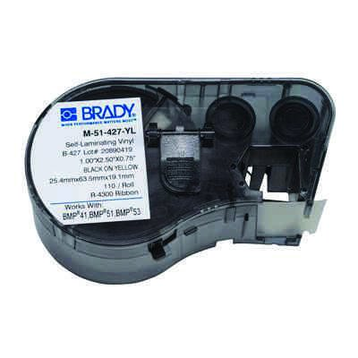 Brady M-51-427-YL BMP51/BMP41 Label Cartridge - Yellow