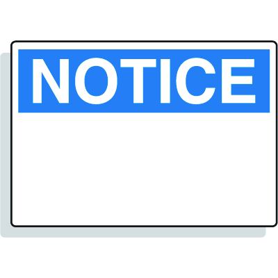 Magnetic OSHA Signs - Notice Header