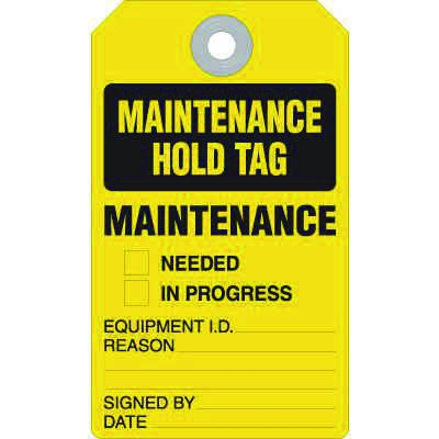 Maintenance Hold Tag - Accident Prevention Ultra Tag