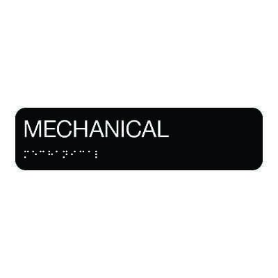 Mechanical - Standard Worded Braille Signs