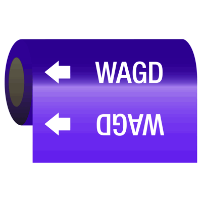 Medical Gas Self-Adhesive Pipe Markers-On-A-Roll - Wagd