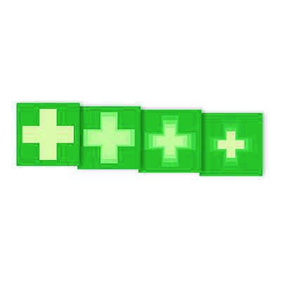 """Seton Motion® Photoluminescent First Aid Sign """"First Aid Symbol"""""""
