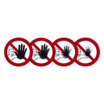 """Seton Motion® Prohibition Sign """"No Access For Unauthorized Persons"""""""