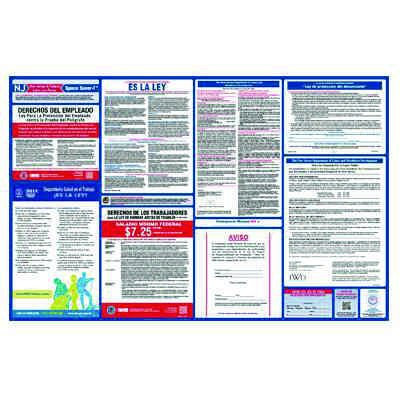 New Spanish Labor Law Poster with 1 Year Subscription