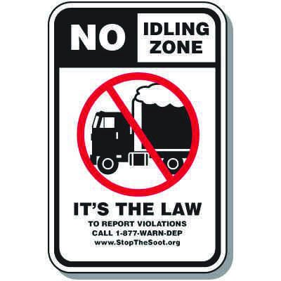 No Idling Signs - It's The Law