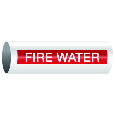 Opti-Code™ Self-Adhesive Pipe Markers - Fire Water