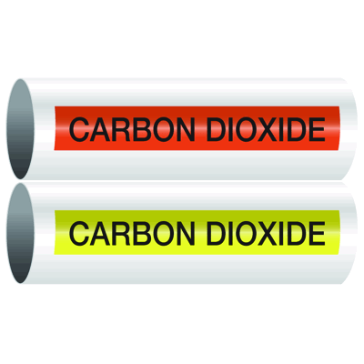 Opti-Code™ Self-Adhesive Pipe Markers - Carbon Dioxide