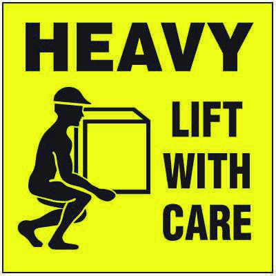 Package Handling Label Heavy Lift With Care