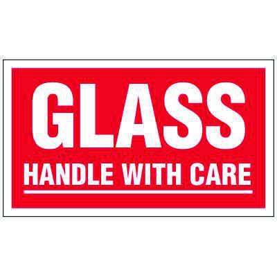 Glass Handle With Care Label