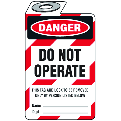 Padlock Lockout Tags - Danger Do Not Operate