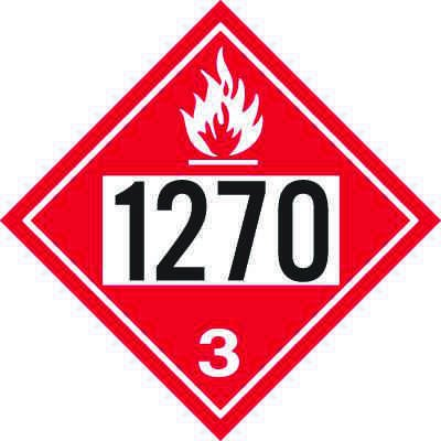 1270 Petroleum Oil - DOT Placards