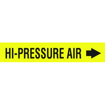 Self-Adhesive Pipe Markers-On-A-Roll - Hi-Pressure Air