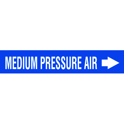 Self-Adhesive Pipe Markers-On-A-Roll - Medium Pressure Air