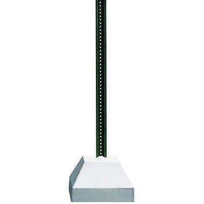 250lb. Concrete Sign Bases with 6ft U-Channel Sign Posts