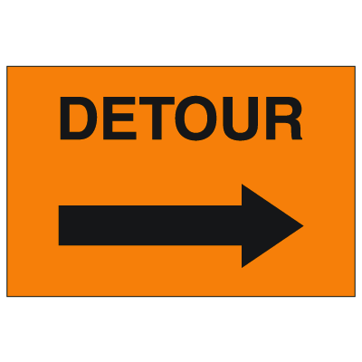 Detour Signs - Right Arrow