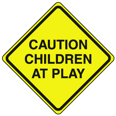 Private Property Signs - Children At Play