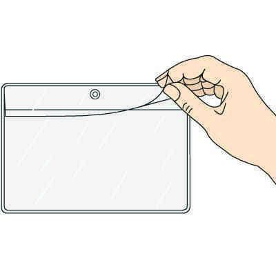 Overlapping-Flap Hanging Document Holder