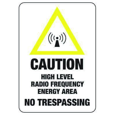 Radio Frequency Authorized Personnel - Radio Frequency Signs