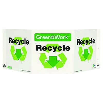 Recycle Tri View Recycling Sign