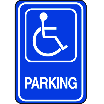 Plastic Handicapped Parking Signs - Handicapped Parking