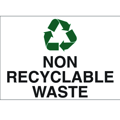 Recycling Labels - Non Recyclable Waste