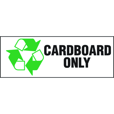 Recycling Labels - Cardboard Only