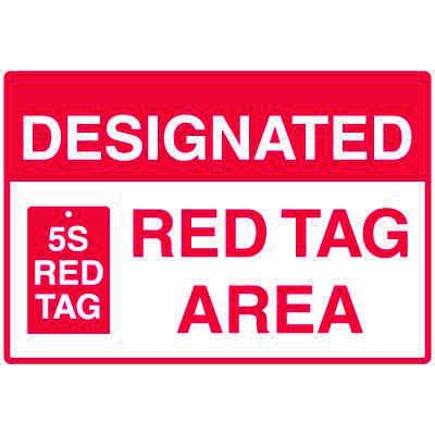 Red Tag Area Wall Signs - Designated Red Tag Area