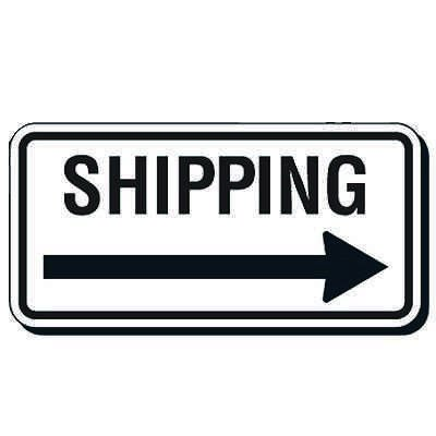 Reflective Parking Lot Signs - Shipping (Right Arrow)