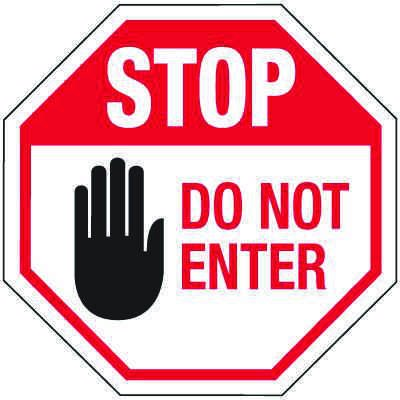 Reflective Parking Lot Signs - Stop Do Not Enter Sign