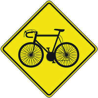 Reflective Warning Signs - Bicycle Symbol