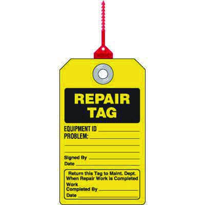 Repair Tag - Safety Tag with Self-Locking Seal