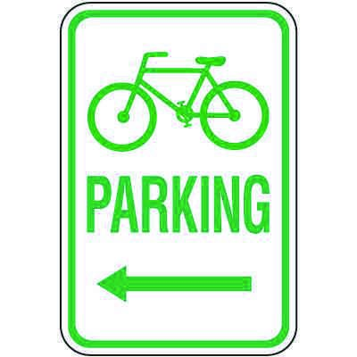 Reserved Parking Signs - Bicycle Parking (Left Arrow)