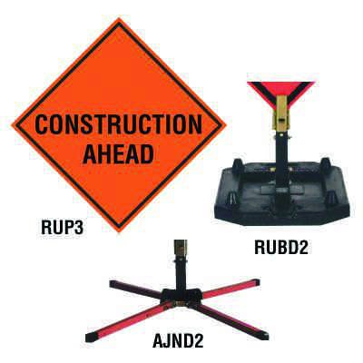 Roll-Up Sign - Construction Ahead