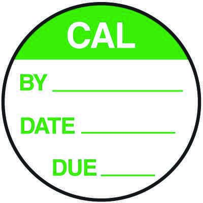 CAL By Date Due Round Calibration Labels On A Roll