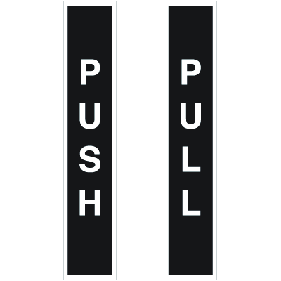Push / Pull Safety Door And Window Decals