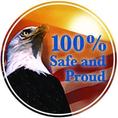 Safety Hard Hat Decals - 100% Safe And Proud