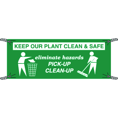 Keep Our Plant Clean & Safe Safety Slogan Banners