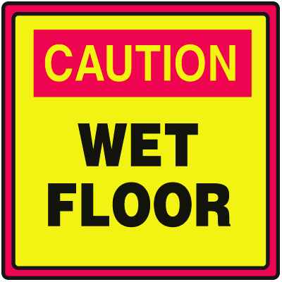Safety Traffic Cone Signs - Caution Wet Floor