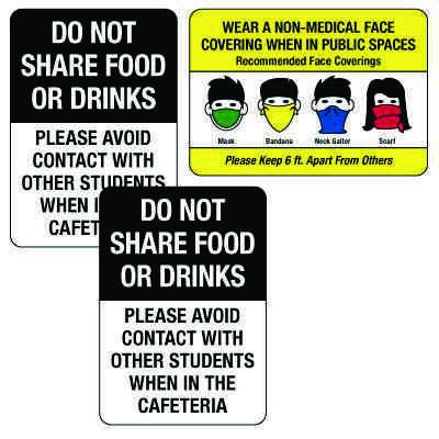 Social Distancing Signage Kit for Cafeterias #2