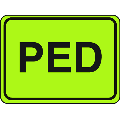 School Safety Signs - Ped