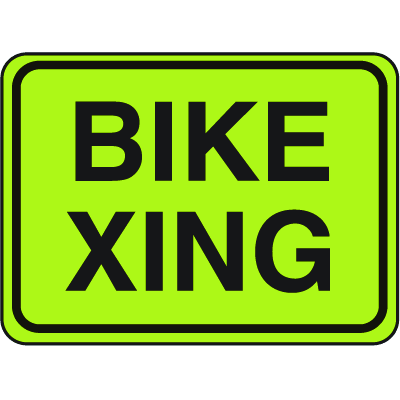 School Safety Signs - Bike Xing