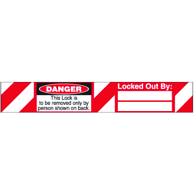 Self-Laminating Padlock Labels - This lock is to be removed