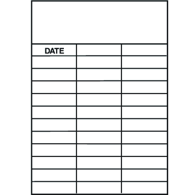 Date in White Service Labels