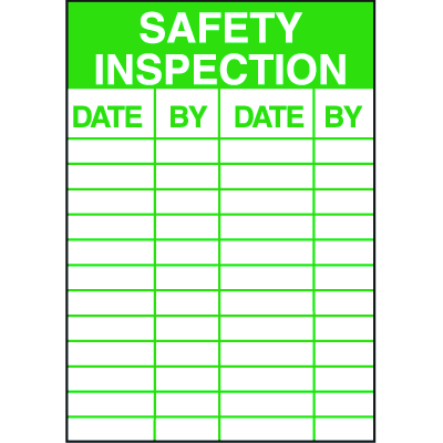 Safety Inspection Service Labels