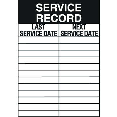 Service Record Service Labels