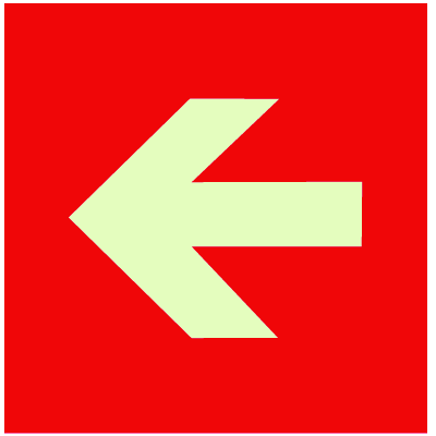 Photoluminescent Left/Right Arrow Sign