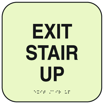 SetonGlo™ Signs - Exit Stair Up