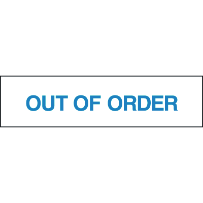 Setonsign® Value Packs - Out Of Order