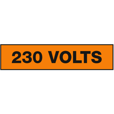 Seton Sign Value Packs For Electrical Marking - 230 Volts