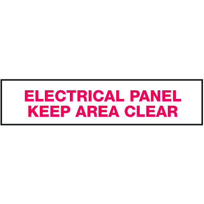 Seton Sign Value Packs For Electrical Marking - Electrical Panel Keep Area Clear